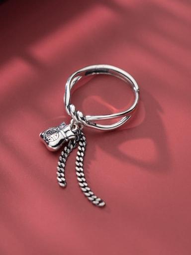 925 Sterling Silver Tassel Vintage Band Ring