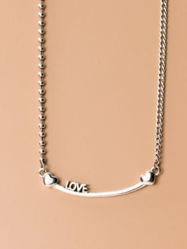 925 Sterling Silver Heart Dainty Necklace