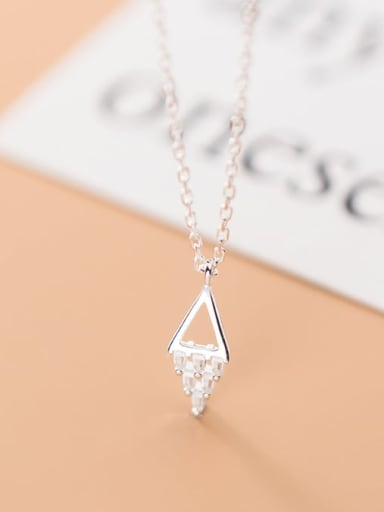 925 sterling silver simple fashion geometric Pendant Necklace