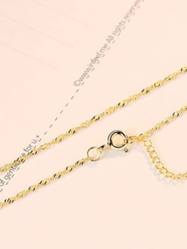 Fine 18K Gold 925 Sterling Silver Minimalist Singapore Chain