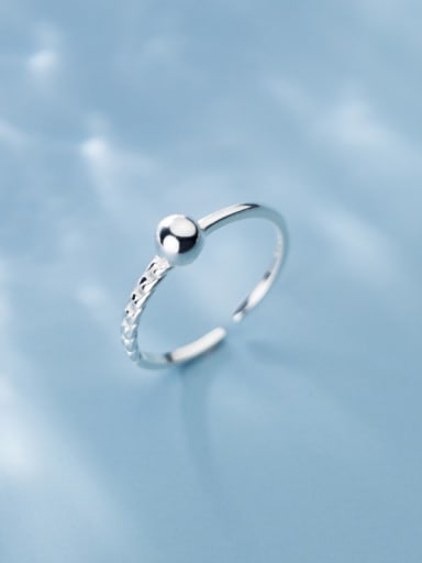 925 Sterling Silver Round Minimalist Free Size Ring
