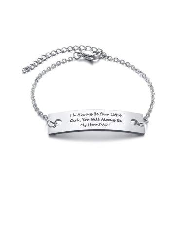 Titanium Letter Minimalist Geometry Bracelets