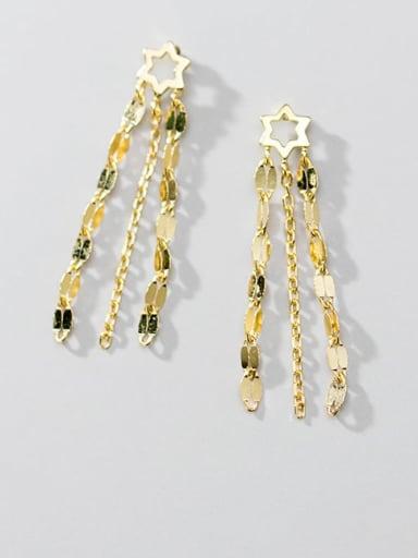 925 Sterling Silver Tassel Vintage Threader Earring
