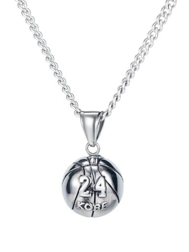 Titanium round Ball Minimalist pendant Necklace