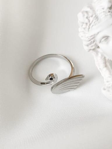 925 Sterling Silver Swan Minimalist Midi Ring