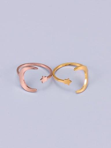 Titanium smooth Moon Minimalist Band Ring