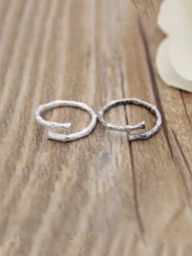 925 Sterling Silver Retro minimalist tree branch Free size Ring