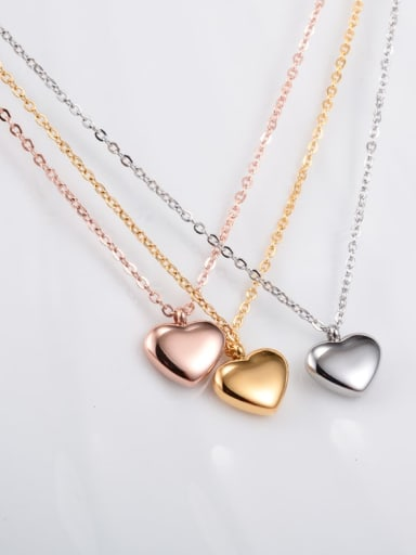 Titanium Smooth Heart Minimalist Choker Necklace