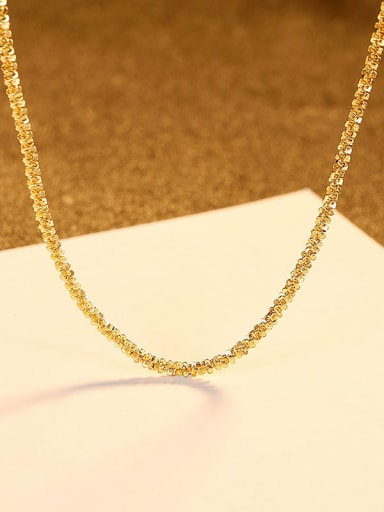 18K gold 14h02 925 Sterling Silver Geometric Minimalist Singapore Chain