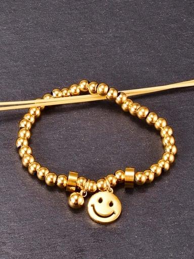 Titanium smooth Ball Minimalist Beaded Bracelet