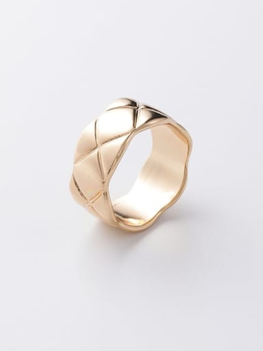 Brass Smooth Round Minimalist Band Ring