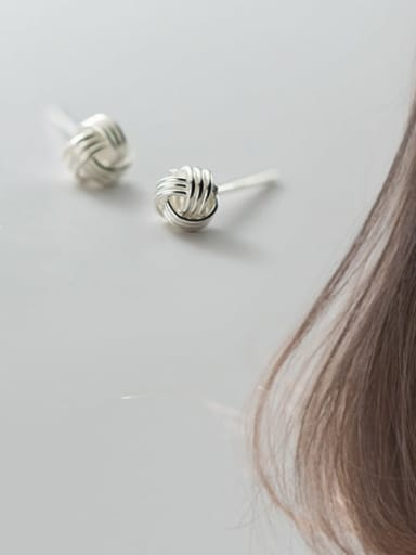 S925 silver pair Silver 4mm 925 Sterling Silver Ball Vintage Stud Earring