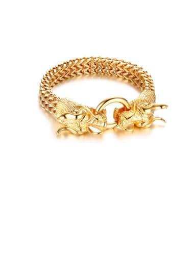 Stainless Steel With Gold Plated Simplistic Faucet Bracelets