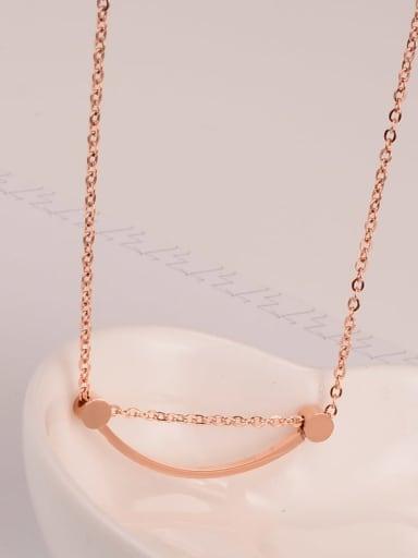 Titanium Smooth Geometry  Smiley  Necklace