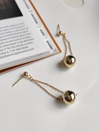 925 Sterling Silver Bead Ball Bohemia Threader Earring