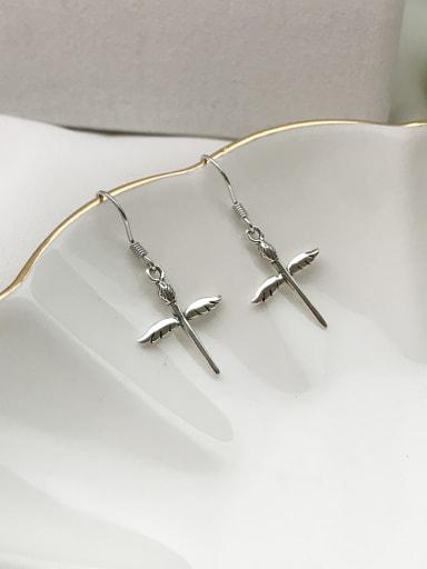 925 Sterling Silver Cross Minimalist Hook Earring