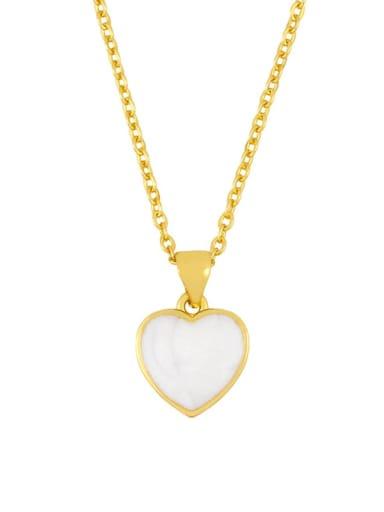 love Brass Shell Heart Minimalist  pendant Necklace