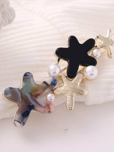 Starry blue Alloy Cellulose Acetate Minimalist Star  Hair Pin