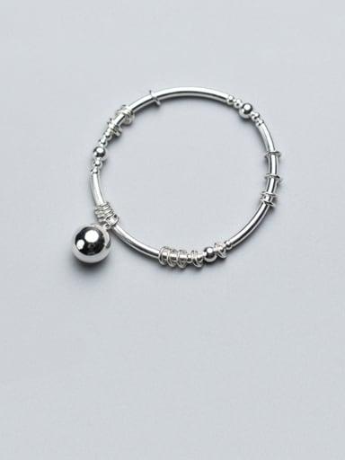 925 Sterling SilverSimple Light Bead Bracelet