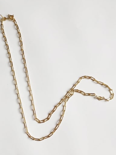 Small rectangular chain 41cm 925 sterling silver hollow chain necklace