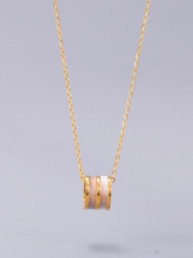 Titanium Shell Round Minimalist  pendant Necklace
