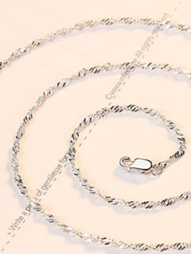 Fine platinum 925 Sterling Silver Minimalist Singapore Chain