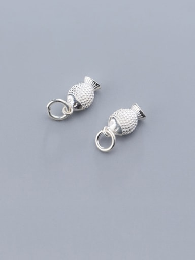 925 Sterling Silver With  Simple Fish Pendant Diy Jewelry Accessories