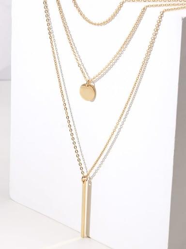 Titanium Cross Minimalist Multi Strand Necklace