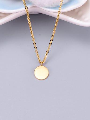 Golden Titanium Smooth Round Necklace