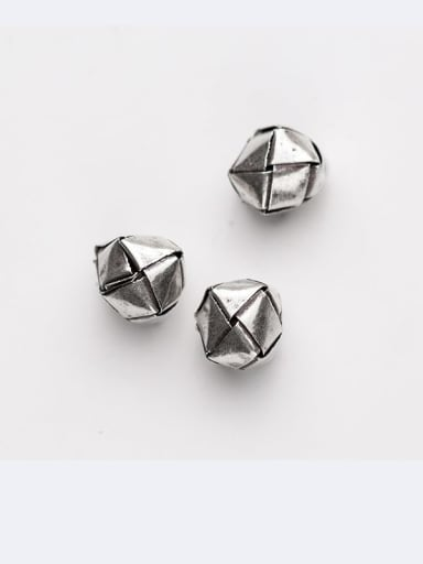 925 Sterling Silver With  Geometry  Separate Beads Handmade DIY Jewelry Accessories
