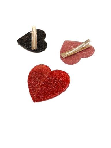 Zinc Alloy Heart Minimalist Barrettes & Clips