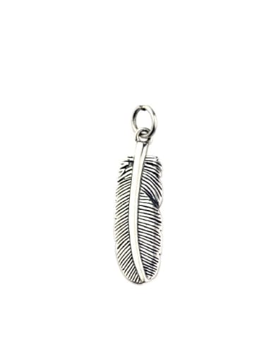 Vintage Sterling Silver With Vintage Feather Pendant Diy Accessories