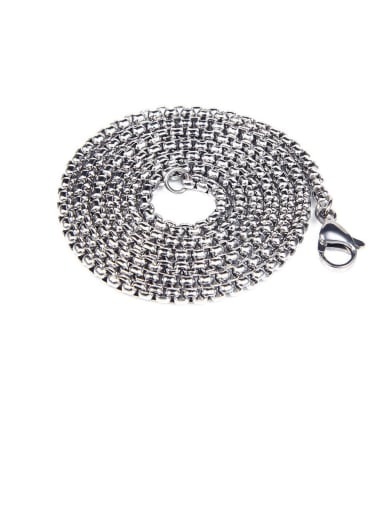 60cm Chain Titanium Vintage Cross  Pendant