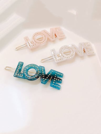Alloy  Cellulose Acetate Minimalist Letter Hair Pin