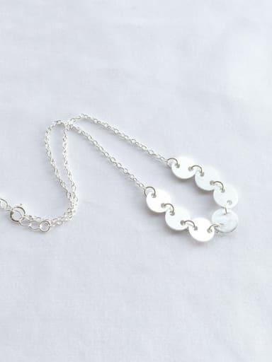 925 Sterling Silver Minimalist  Round Anklet