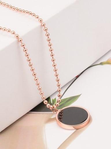 Titanium Shell Geometric Minimalist Necklace