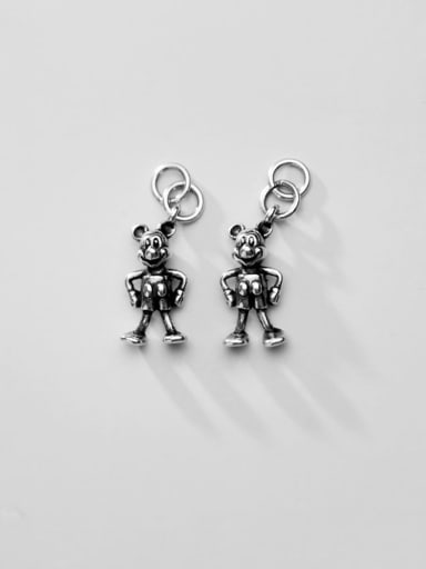 925 Sterling Silver With Cartoon Mickey Mouse Pendant DIY Accessories