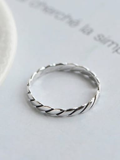 J 266 925 Sterling Silver Freshwater Pearl Band free size Ring