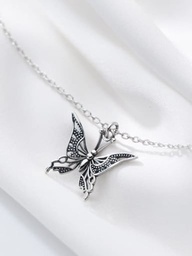 925 Sterling Silver Butterfly Cute Necklace