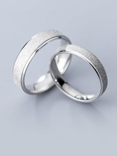 925 Sterling Silver Round Minimalist Couple Ring