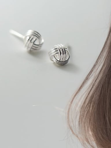 S925 silver pair Silver 5mm 925 Sterling Silver Ball Vintage Stud Earring