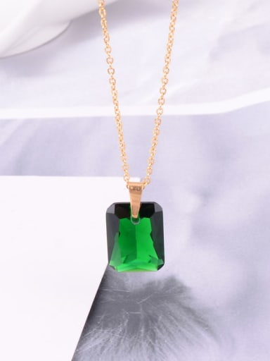 Titanium Square Minimalist Choker Necklace