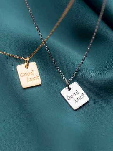 925 Sterling Silver Letter Minimalist Necklace