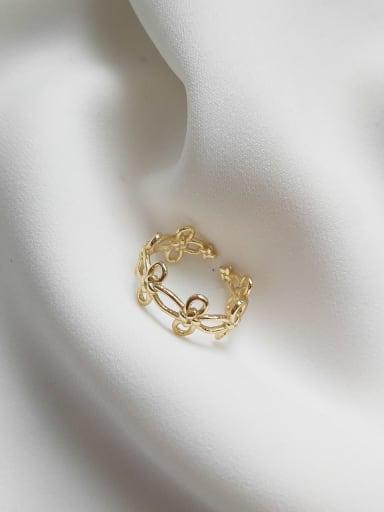 Floral ring J 654 925 Sterling Silver Flower Minimalist Midi Ring