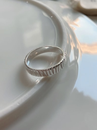 J-1201 925 Sterling Silver Smooth Free Size Ring