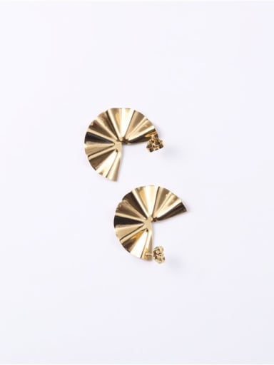 Titanium  Smooth  Irregular Minimalist Ear Jacket Earring