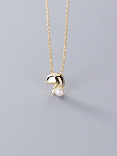 925 Sterling Silve Fashion cute mushroom imitation pearl chain