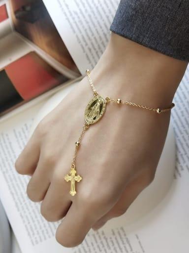 925 Sterling Silver Retro cross tassel Bracelet