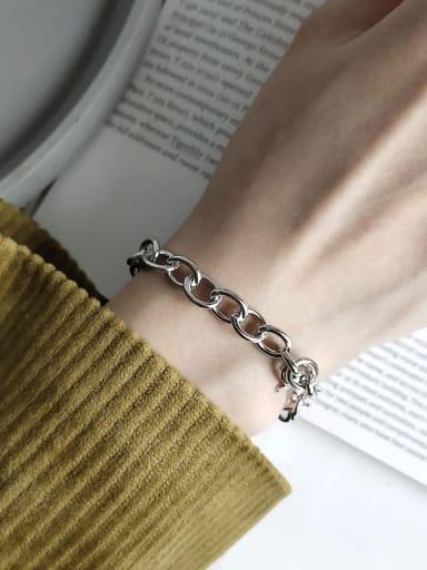 925 Sterling Silver Irregular Vintage Link Bracelet