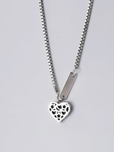 925 Sterling Silver Heart letter  Ethnic Necklace